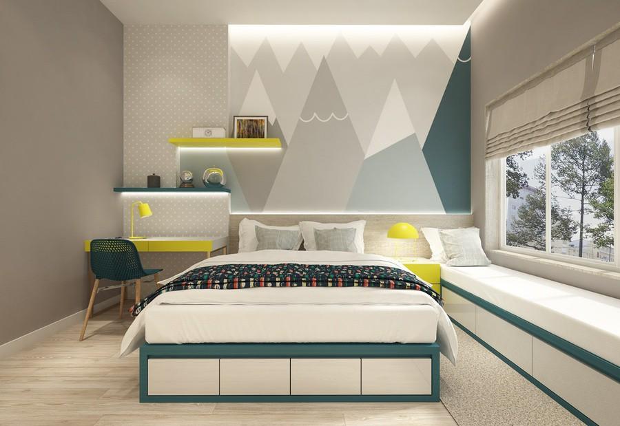 Trang trí phòng ngủ của trẻ với giấy dán tường
