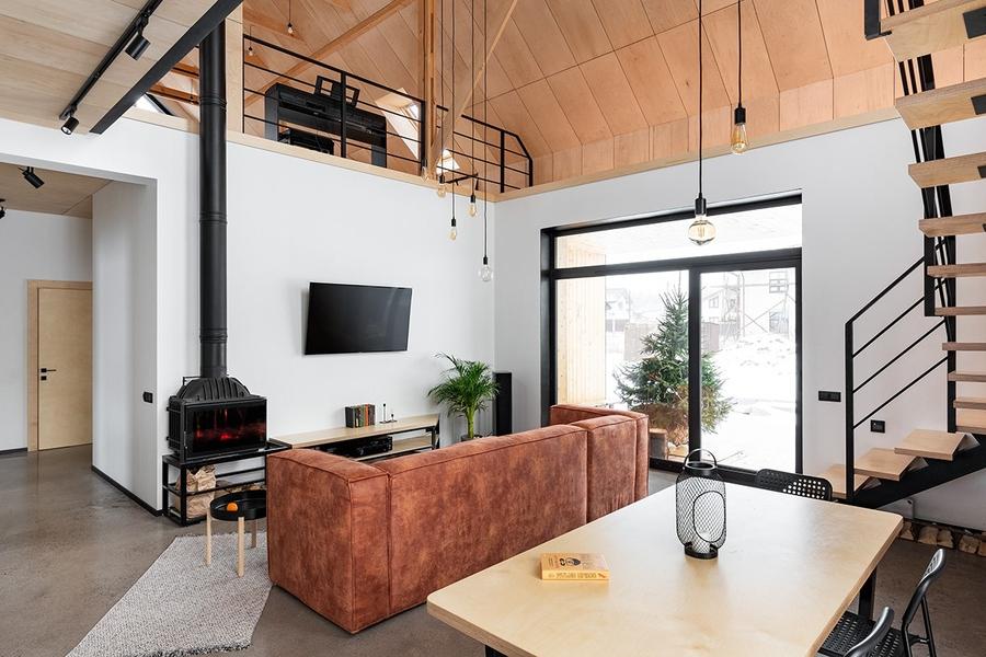 Đèn sợi đốt tạo sự mới lạ cho không gian phòng khách