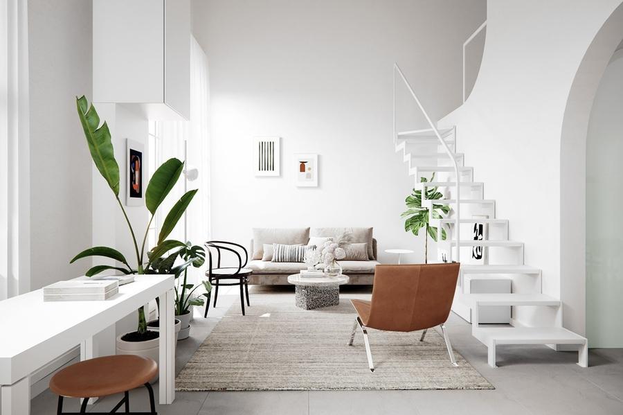 Mẫu thiết kế phòng khách đơn giản nhưng đem lại hiệu quả thẩm mỹ cao