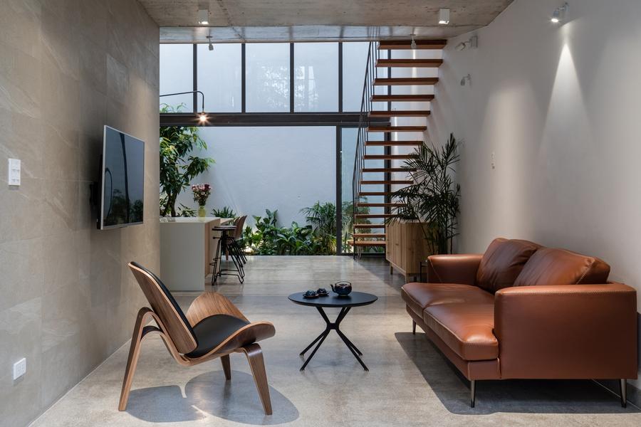 Phòng khách biệt lập với những khu vực khác trong nhà