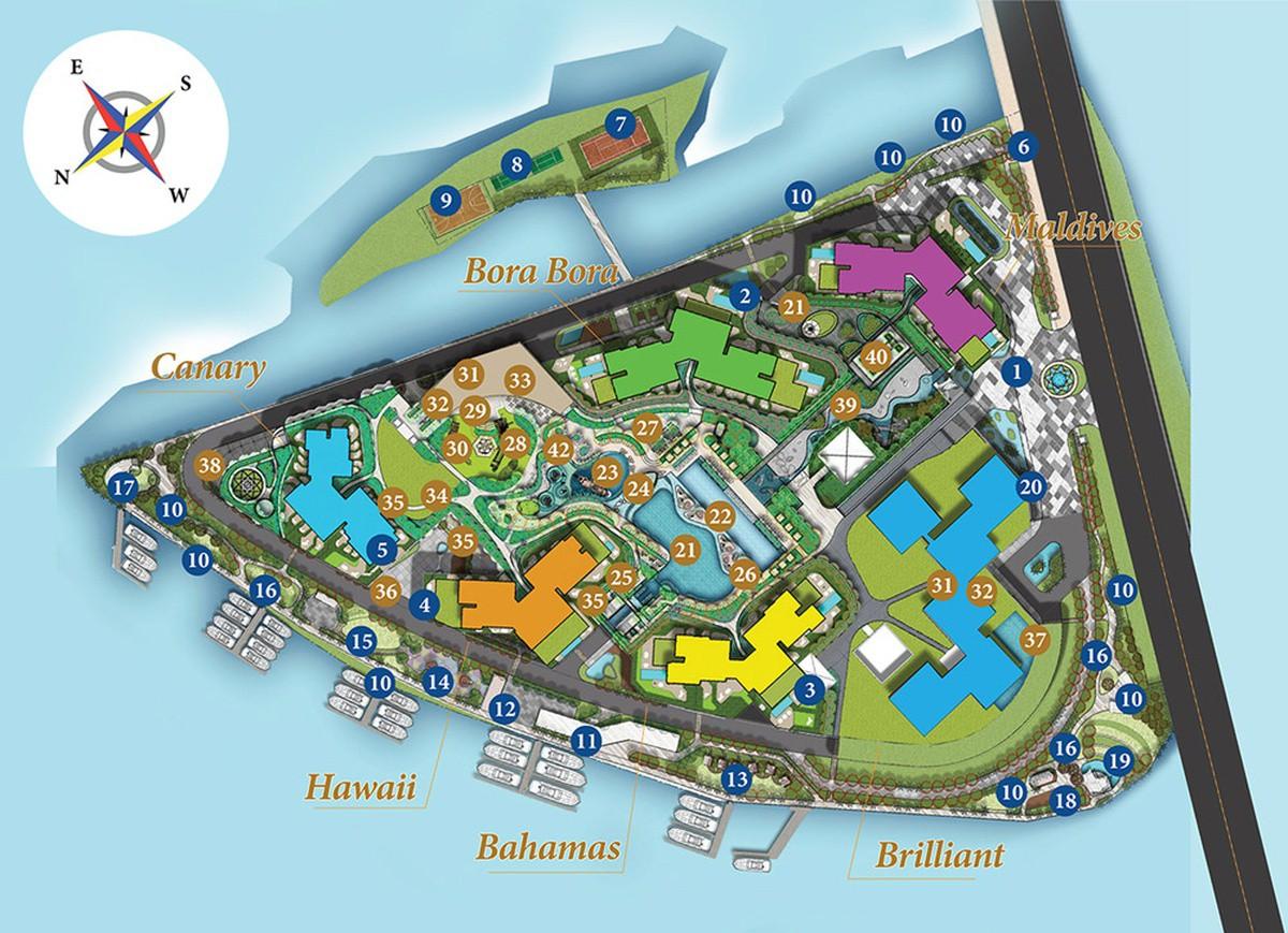 Bản vẽ mặt bằng căn hộ chung cư Diamond Island - Tháp Maldives