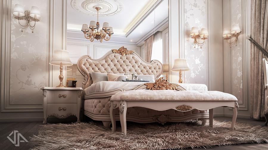 Tổng hợp 20 mẫu thiết kế nội thất phòng ngủ tân cổ điển đẹp, sang trọng xu hướng 2021