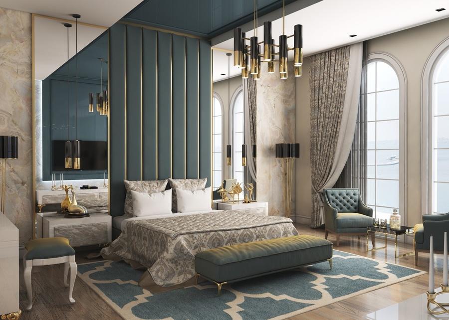 Mẫu phòng ngủ tân cổ điển pha luxury tăng thêm sự đẳng cấp cho chủ nhân