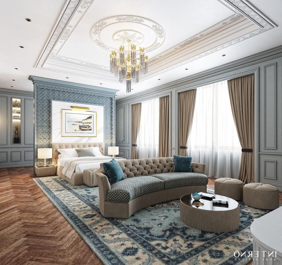 Thiết kế phòng ngủ tân cổ điển tích hợp nhiều công năng cho gia chủ