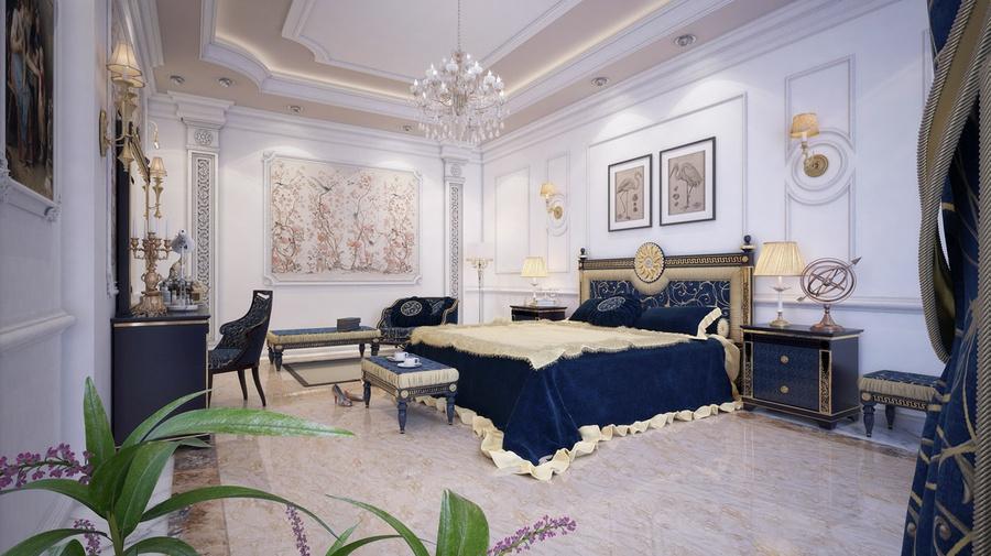 Thiết kế phòng ngủ tân cổ điển cho người lớn trong nhà sẽ có những thay đổi nhất định