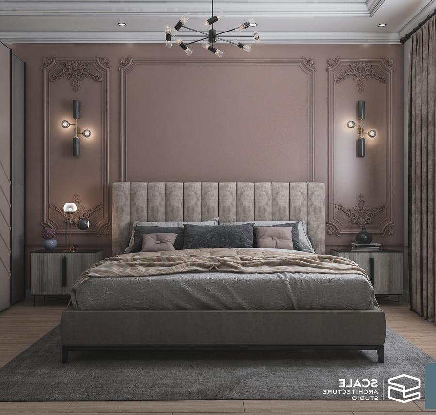 Phòng ngủ tân cổ điển đơn giản, tập trung vào giá trị giấc ngủ