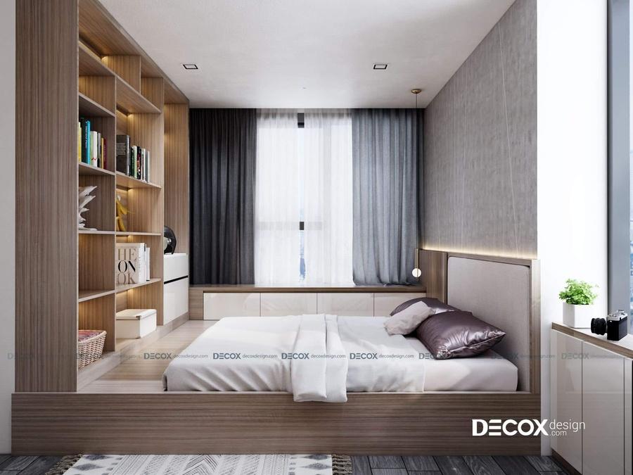 3 mẫu thiết kế nội thất căn hộ 50m2 2 phòng ngủ với chất liệu gỗ
