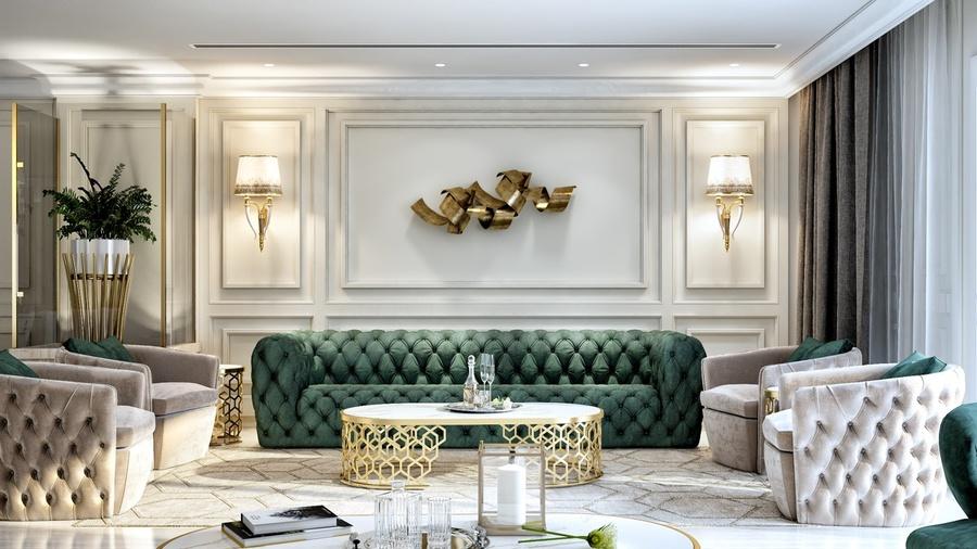 20+ Mẫu thiết kế nội thất phòng khách biệt thự hiện đại, sang trọng 2021