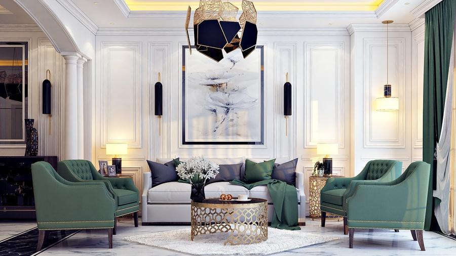 [TOP] 20+ mẫu thiết kế phòng khách tân cổ điển sang trọng, đẹp nhất 2021