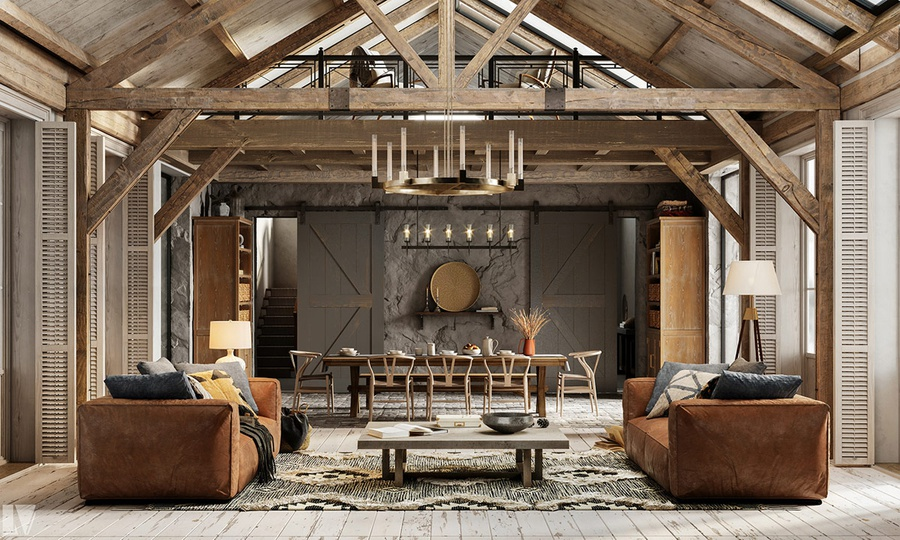 Phong cách Rustic - không gian ẩn chứa nét đẹp đồng quê thô mộc