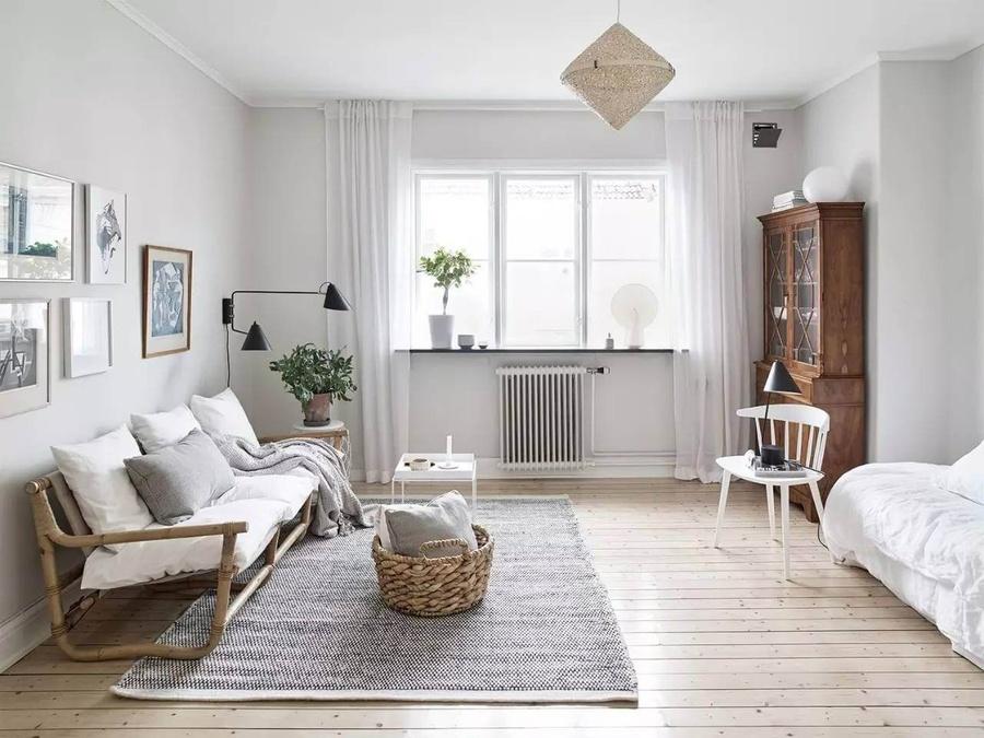 Phòng khách Vintage nhã nhặn cùng tone trắng chủ đạo