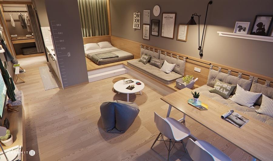 Căn hộ studio là gì? Gợi ý 10 mẫu thiết kế căn hộ studio đẹp, ấn tượng cho bạn tham khảo