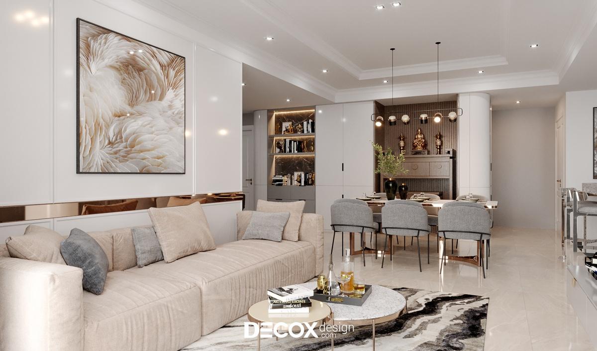 [Bí quyết] Thiết kế phòng khách kết hợp phòng thờ đẹp 2021 kèm mẫu