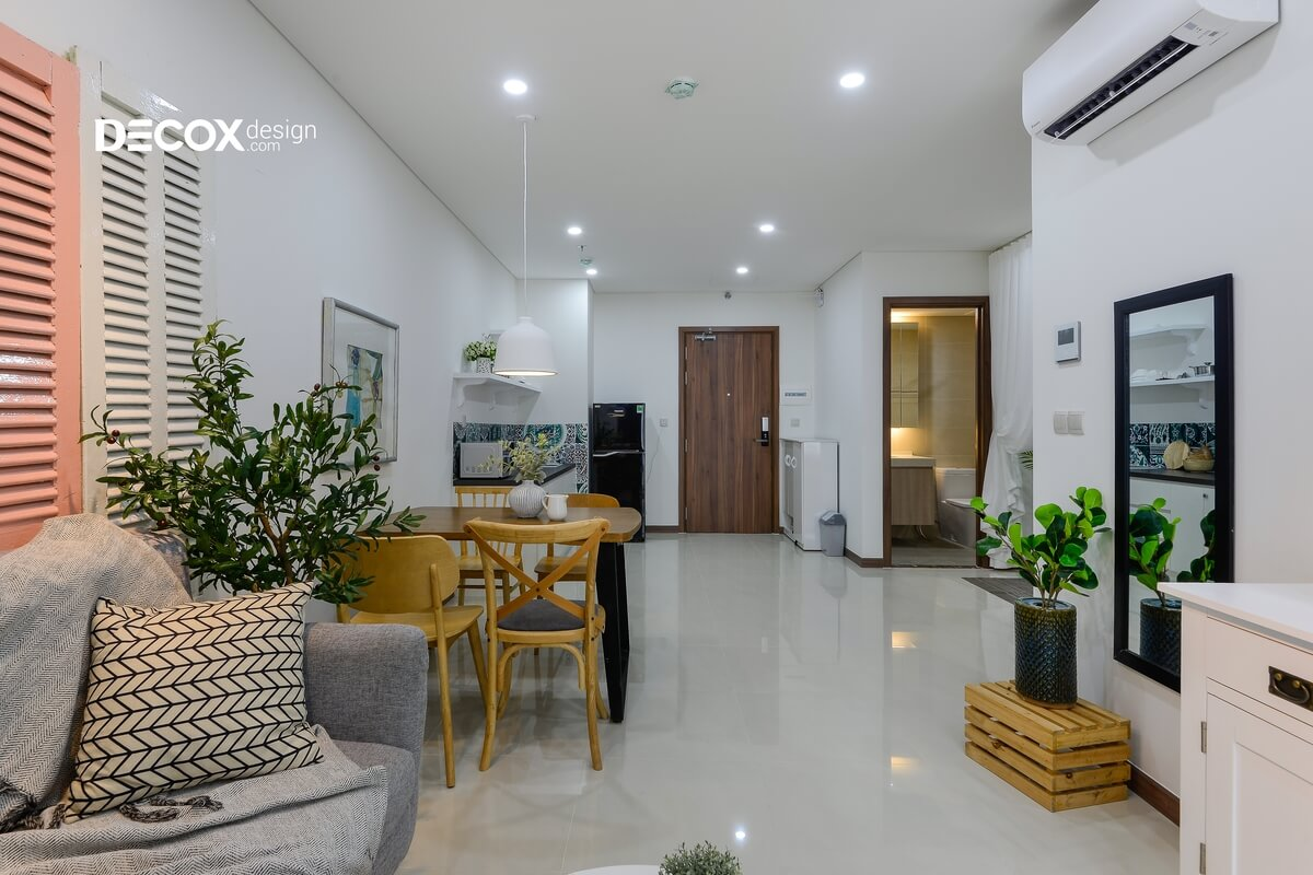 Không gian mở trong căn hộ có diện tích nhỏ
