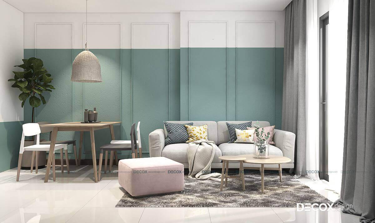 6 mẫu thiết kế nội thất chung cư 50m2 đẹp